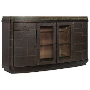 Rustic His and Her Bar with Wine Bottle Storage