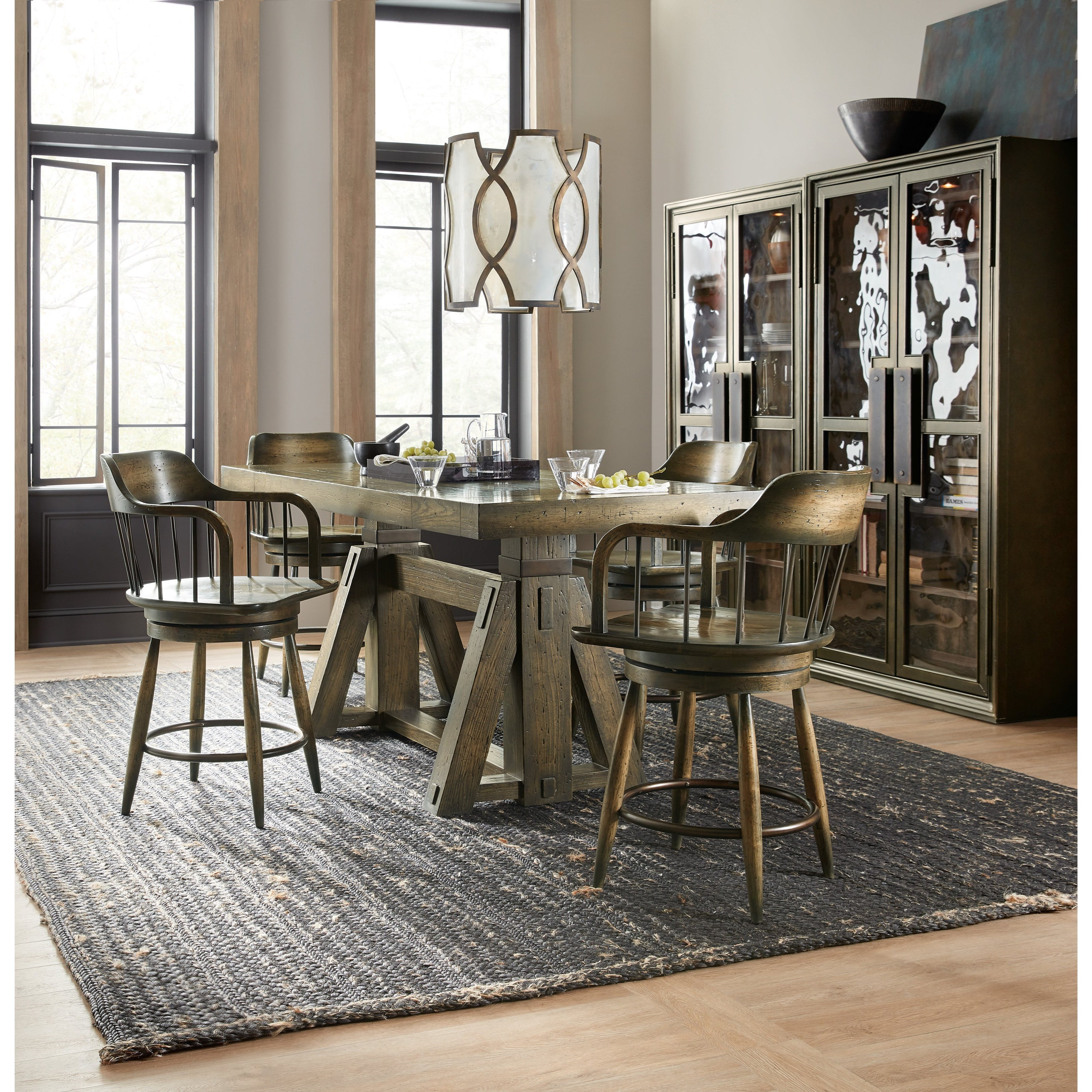 American Life-Crafted 5 Piece Table and Chair Set by Hooker Furniture at Mueller Furniture