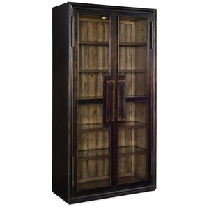 Glass Display Cabinet with Built-In Light