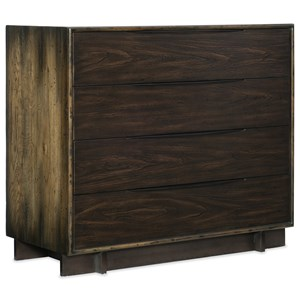Four-Drawer Bachelor Chest with Outlet and USB Port