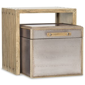 Wooden Nesting and metal Storage Tables