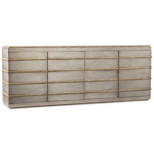 Metal Entertainment Credenza with Adjustable Shelves