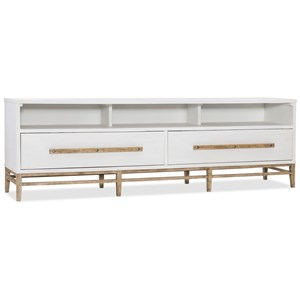 2 Drawer Low Entertainment Console