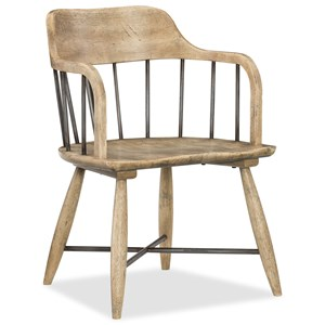 Spindle Back Low Windsor Arm Chair