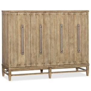 Four-Door Credenza with Adjustable Shelves