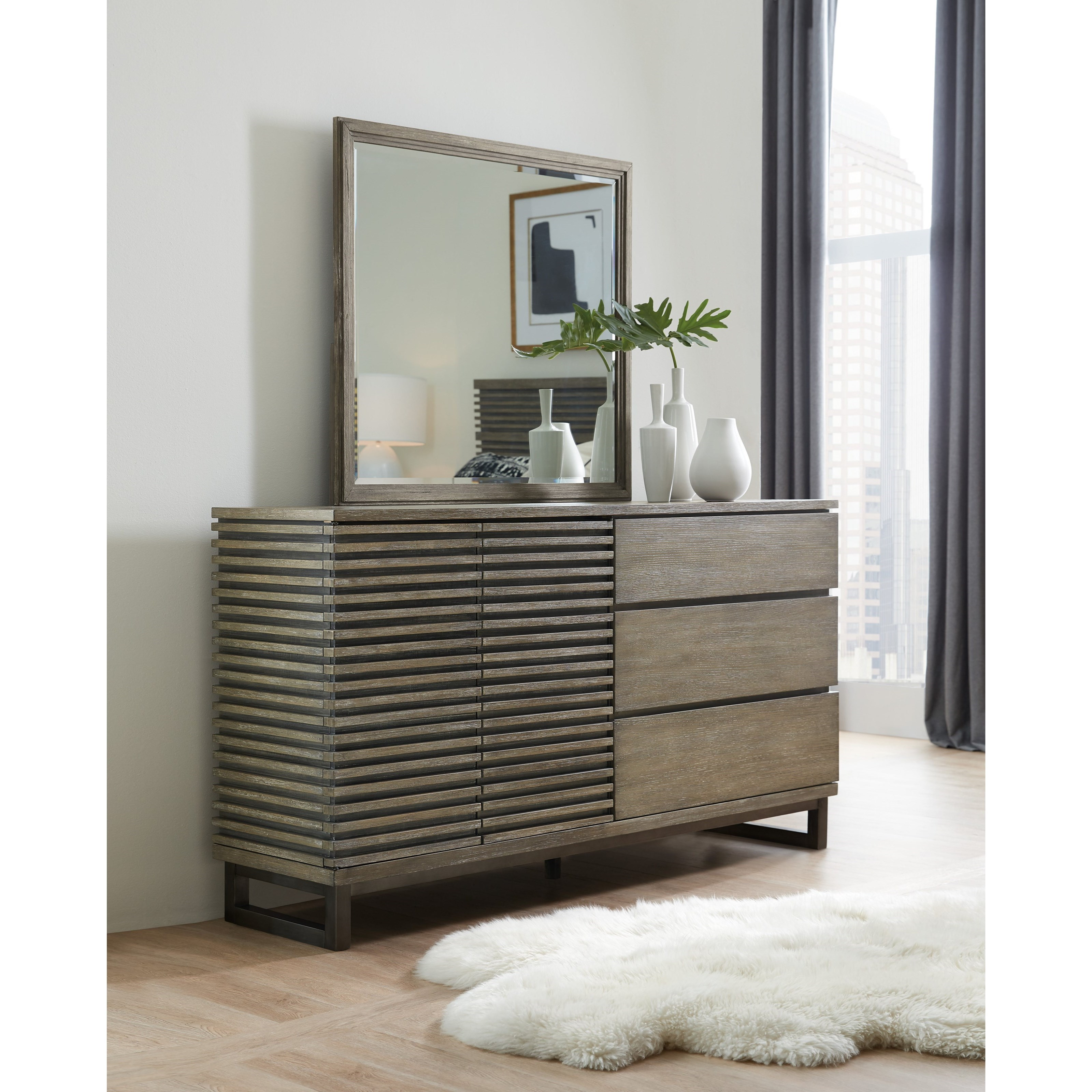Annex Dresser and Mirror Set by Hooker Furniture at Alison Craig Home Furnishings