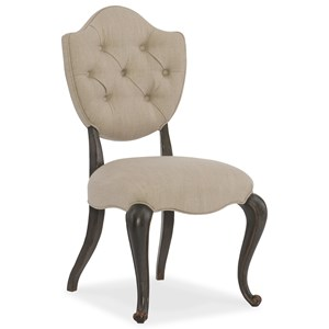 Upholstered Side Chair with Tufting