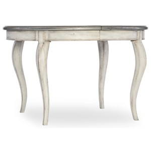 48in Round Leg Table with 1-20in leaf