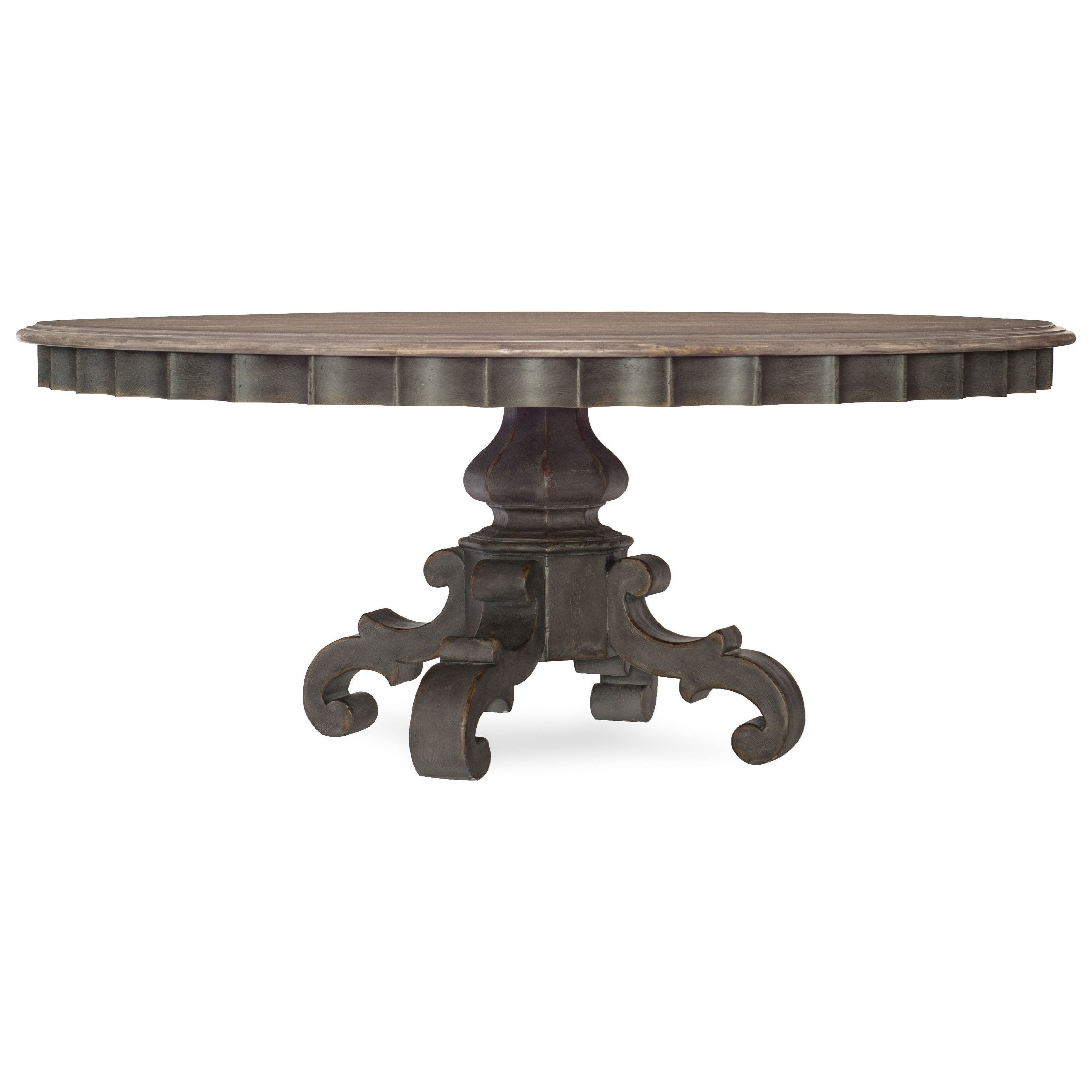 Arabella 72in Round Pedestal Dining Table by Hooker Furniture at Miller Waldrop Furniture and Decor