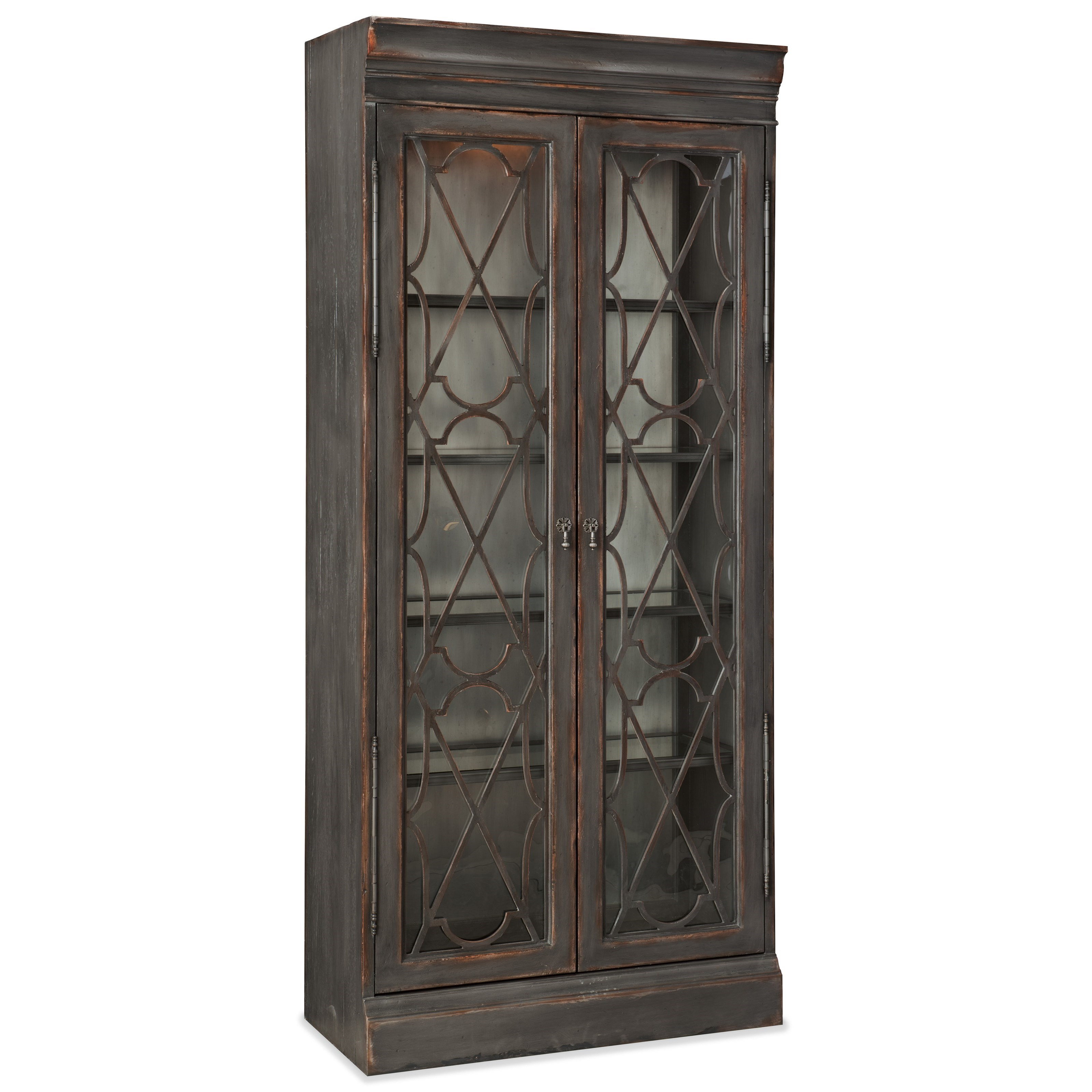 Arabella Bunching Display Cabinet by Hooker Furniture at Fisher Home Furnishings