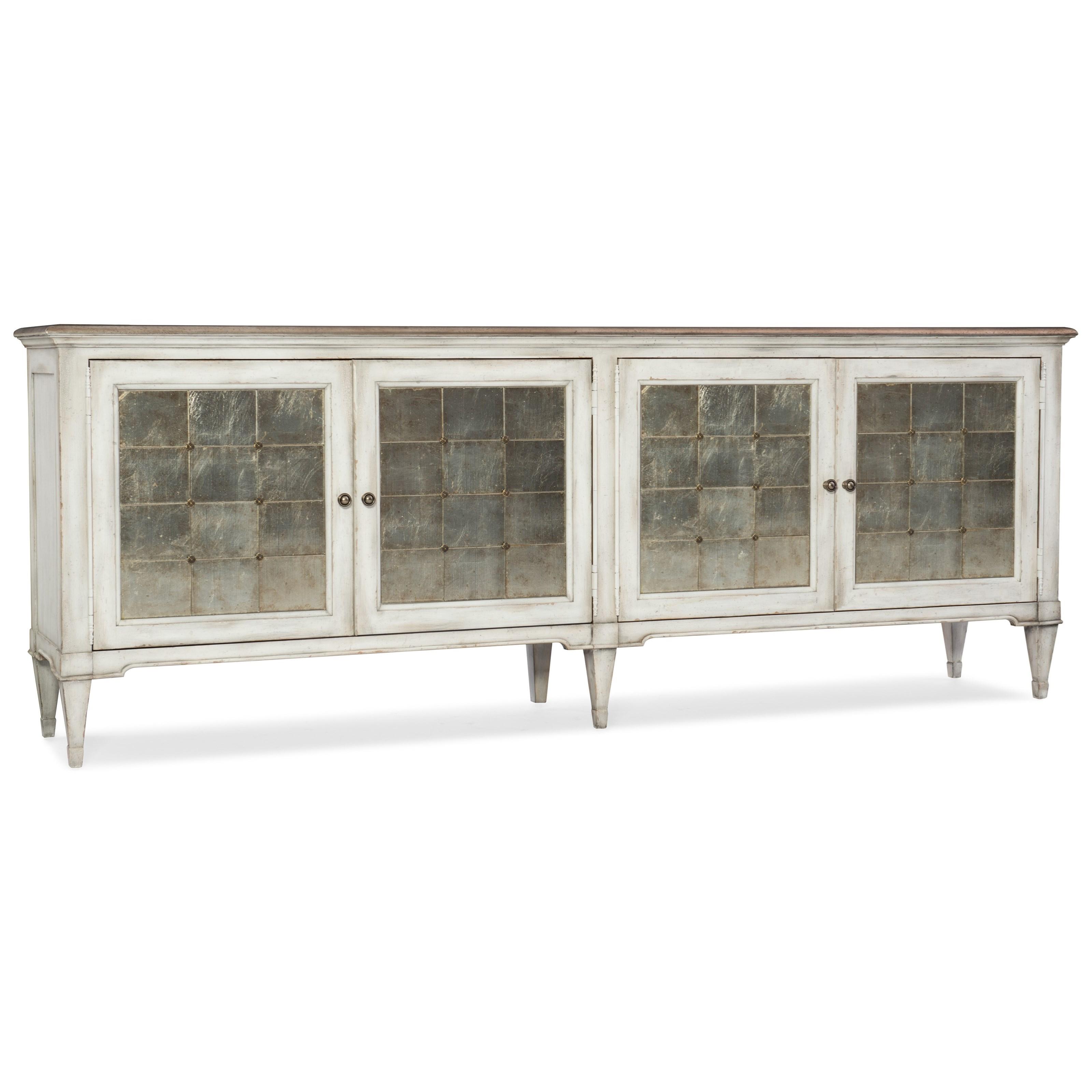 Arabella Four-Door Credenza by Hooker Furniture at Mueller Furniture