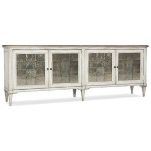 Four-Door Credenza with Eglomise Door Fronts
