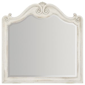 Mirror with Scroll Frame