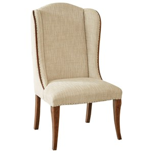 Upholstered Host Chair with Wing Back
