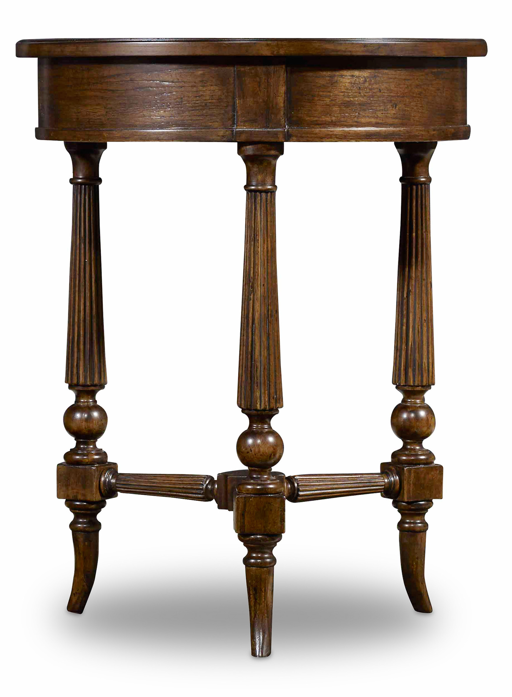 Archivist Round Accent Table by Hooker Furniture at Miller Waldrop Furniture and Decor