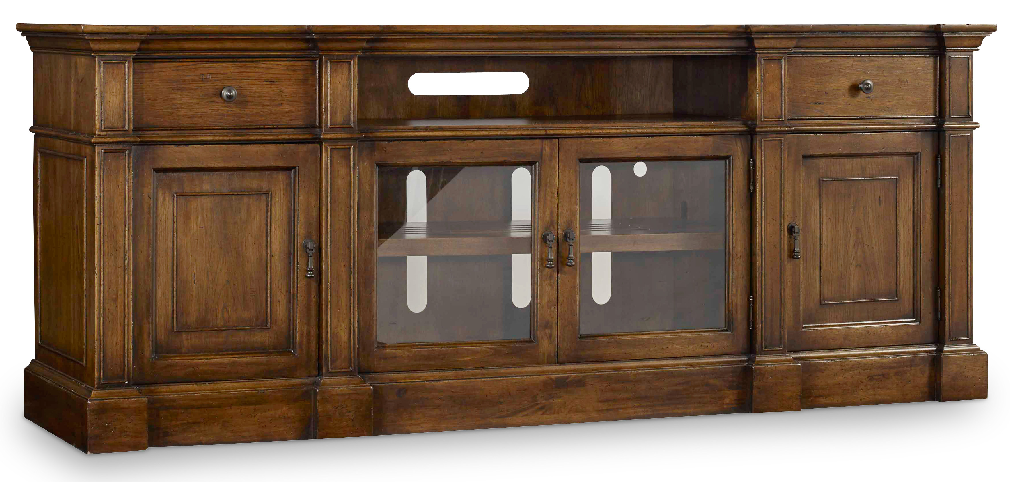 Archivist Entertainment Console by Hooker Furniture at Zak's Home