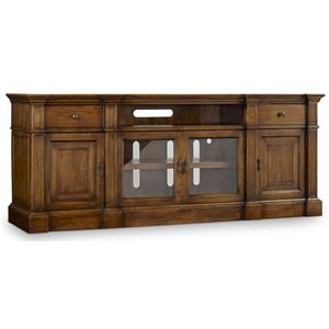 Entertainment Console with Outlets
