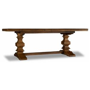 "Trestle Table with 2 18"" Leaves"