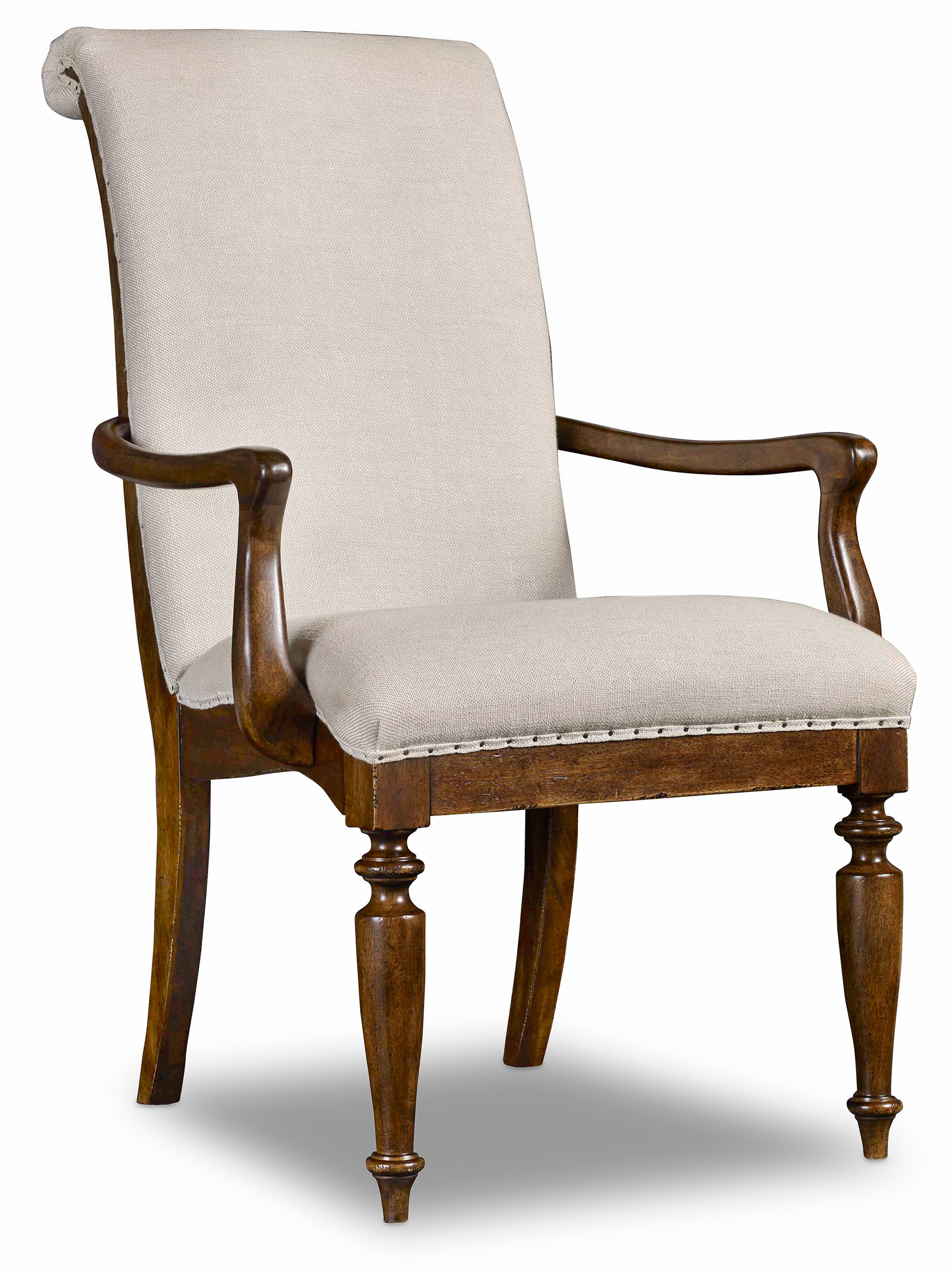 Archivist Upholstered Arm Chair by Hooker Furniture at Fisher Home Furnishings