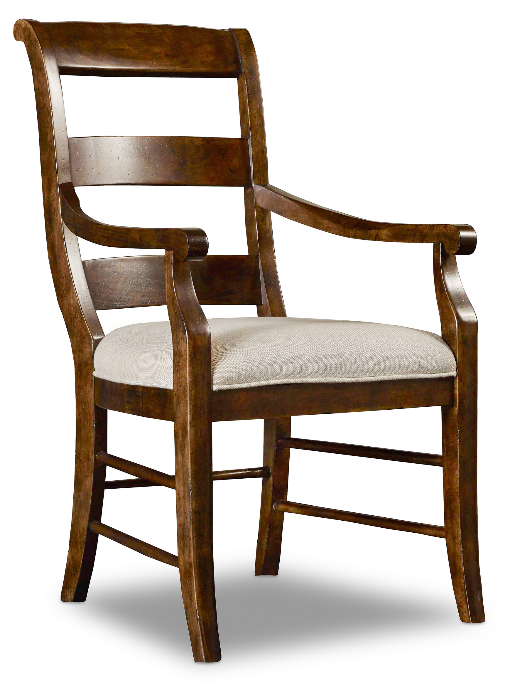 Archivist Ladderback Arm Chair by Hooker Furniture at Alison Craig Home Furnishings