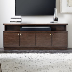 Contemporary Entertainment Console with Metal Hardware
