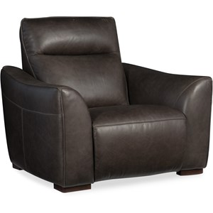 Transitional Power Leather Motion Recliner