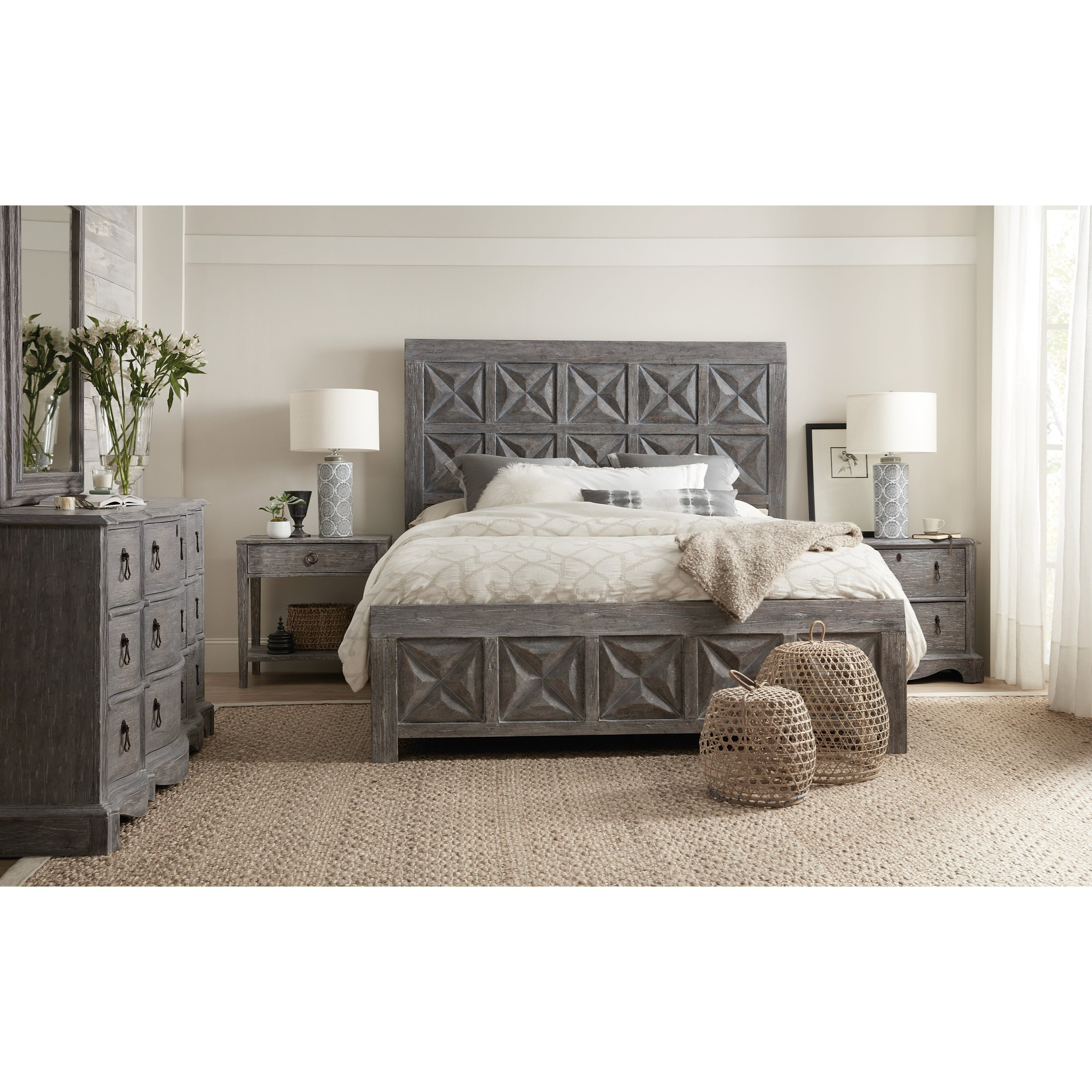 Beaumont California King Bedroom Group by Hooker Furniture at Alison Craig Home Furnishings