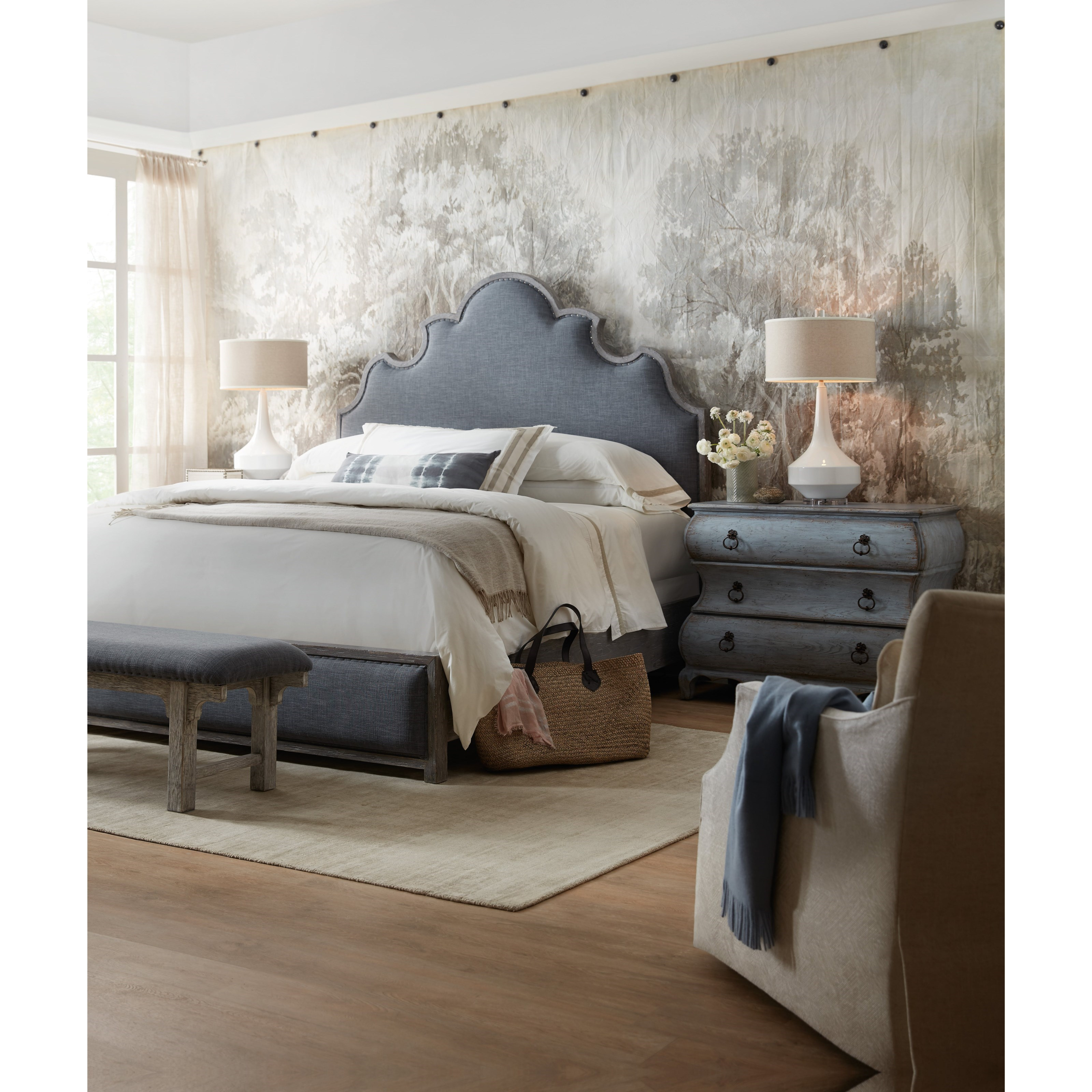 Beaumont California King Bedroom Group by Hooker Furniture at Miller Waldrop Furniture and Decor