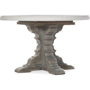 Round Dining Table with 48in Marble Top