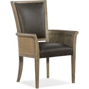 Host Chair with Leather Seat and Back