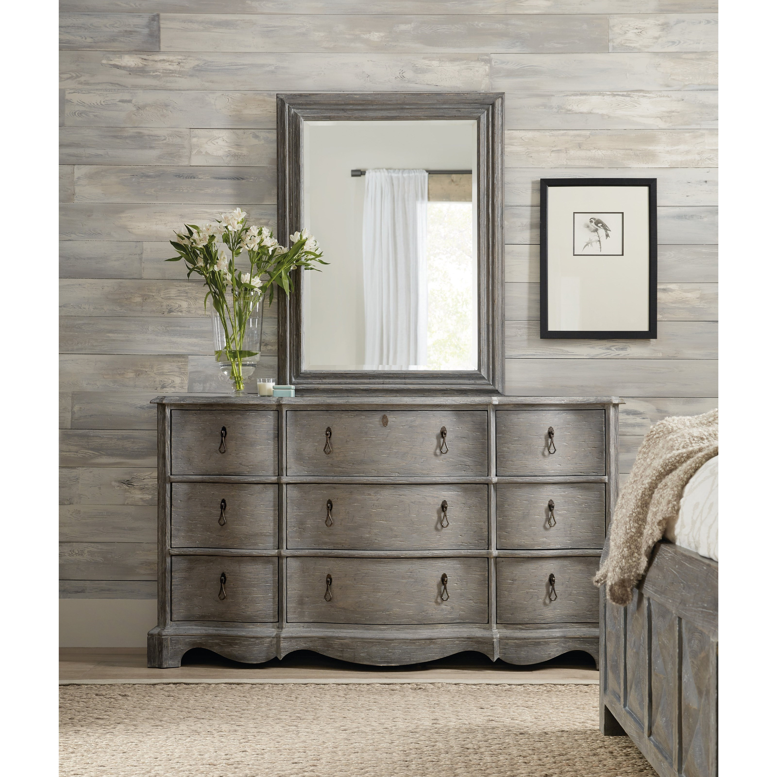 Beaumont Dresser and Mirror Set by Hooker Furniture at Baer's Furniture