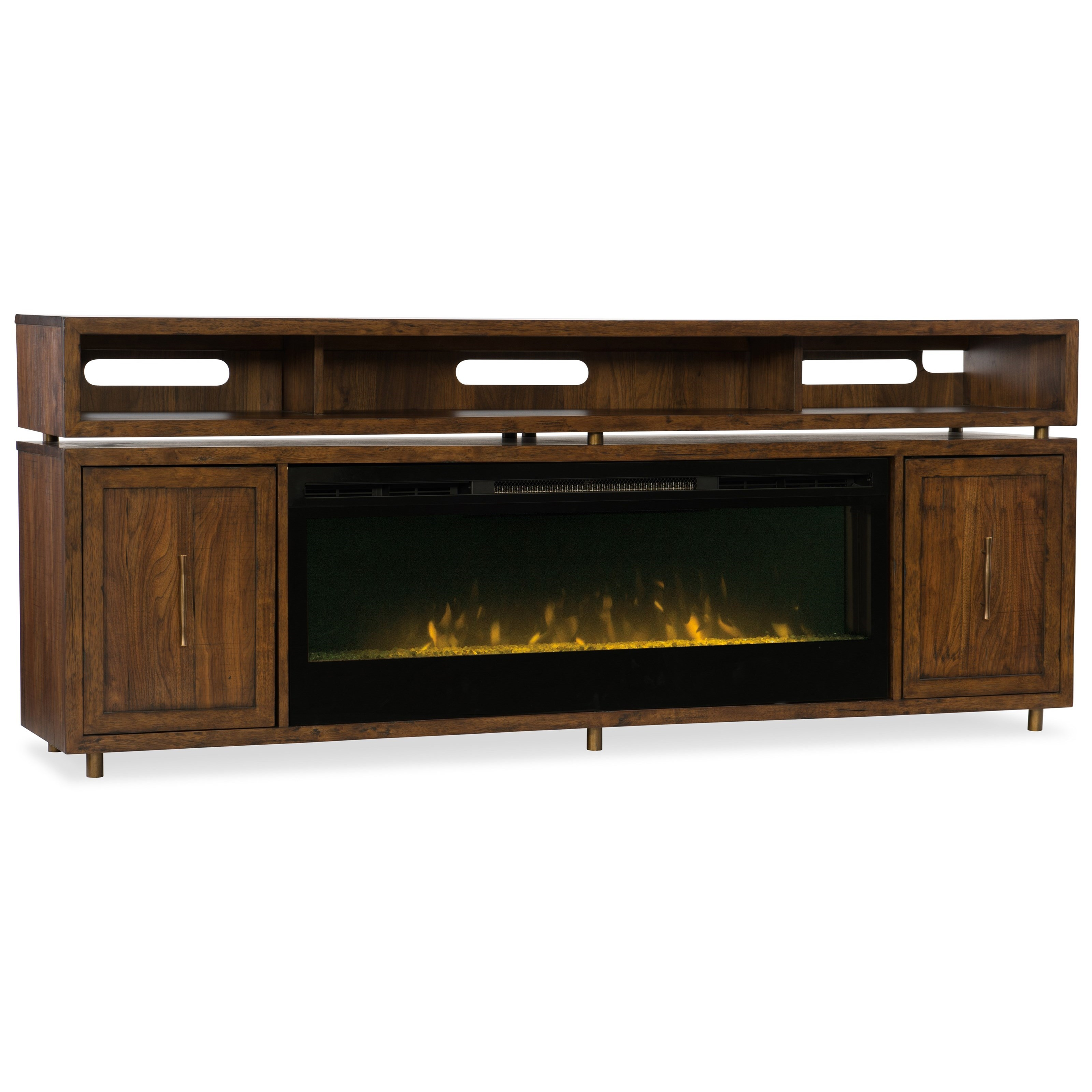 Big Sur Entertainment Console by Hooker Furniture at Miller Waldrop Furniture and Decor