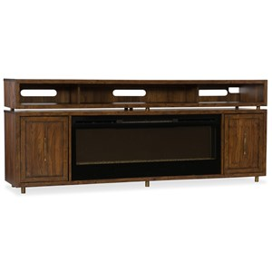 Entertainment Console with Fireplace Insert