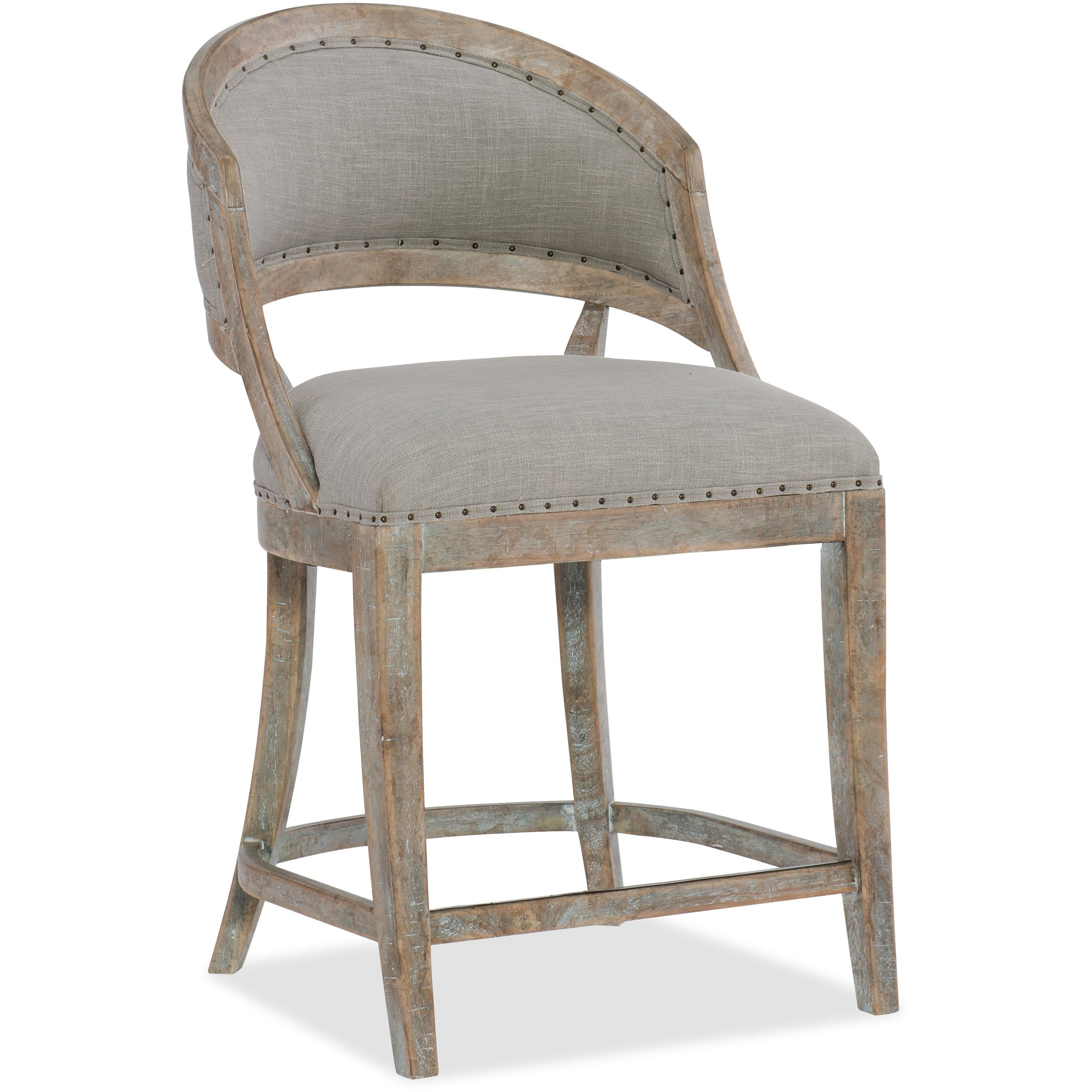 Boheme Garnier Barrel Back Counter Stool by Hooker Furniture at Baer's Furniture