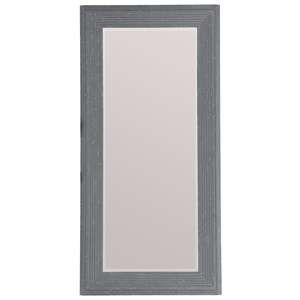 Rectangular Floor Mirror with Wood Frame