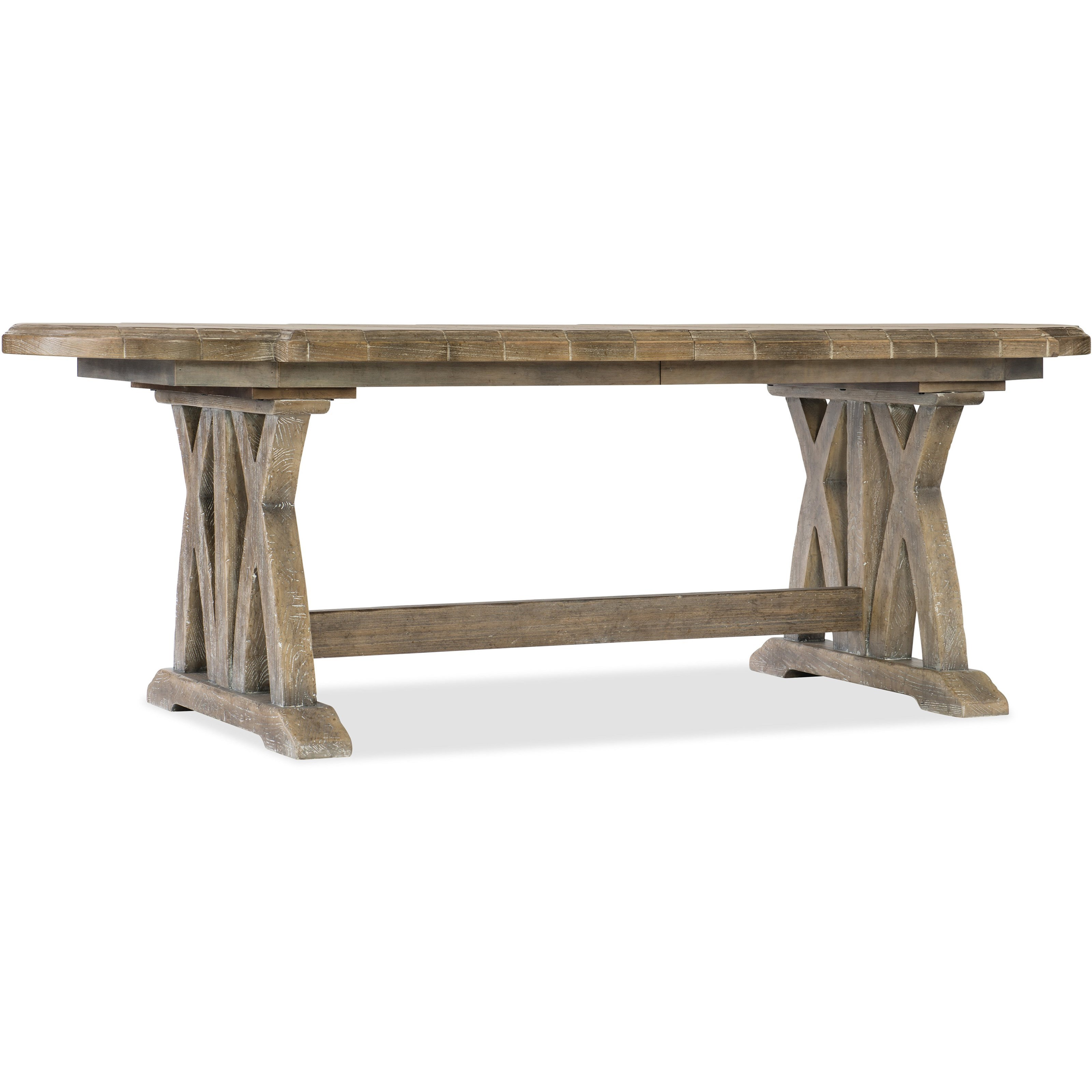 "Boheme Colibri 88"" Trestle Dining Table by Hooker Furniture at Miller Waldrop Furniture and Decor"