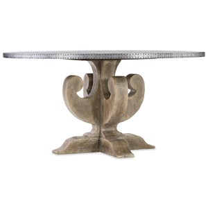Ascension 60 Inch Adjustable Aluminum Top Pedestal Dining Table