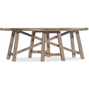 Oval Cocktail Trestle Table