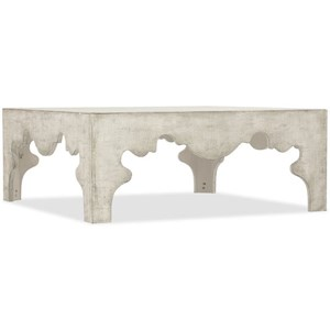 Distressed Linen Square Cocktail Table