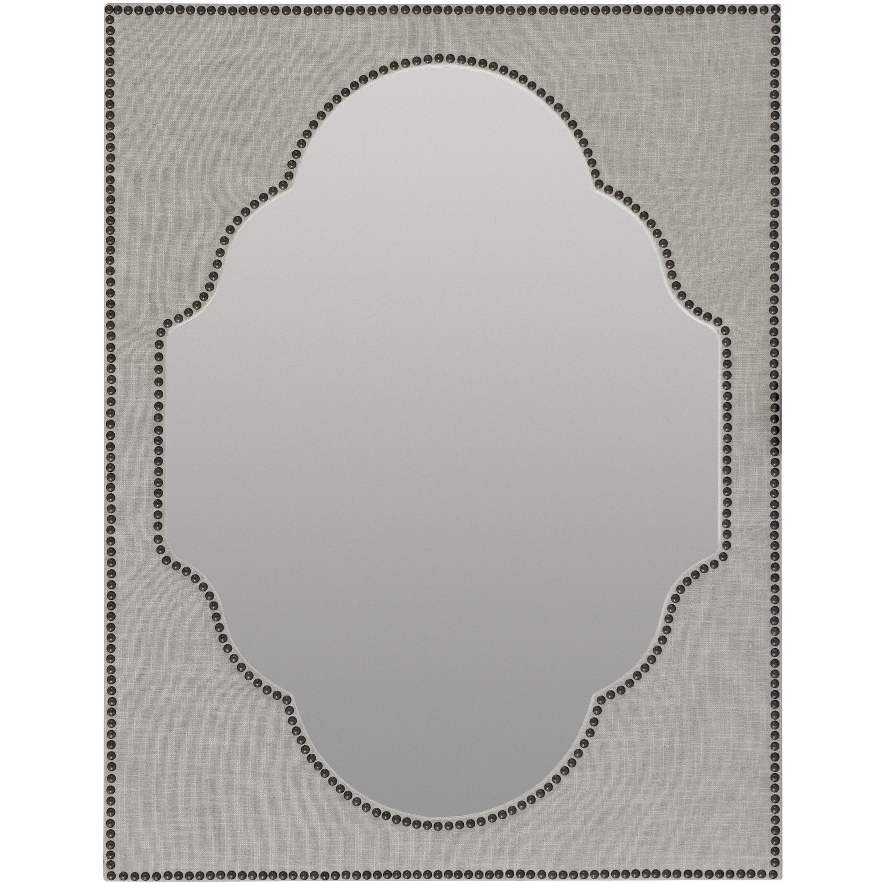Boheme Nourmand Linen Wrapped Mirror by Hooker Furniture at Miller Waldrop Furniture and Decor