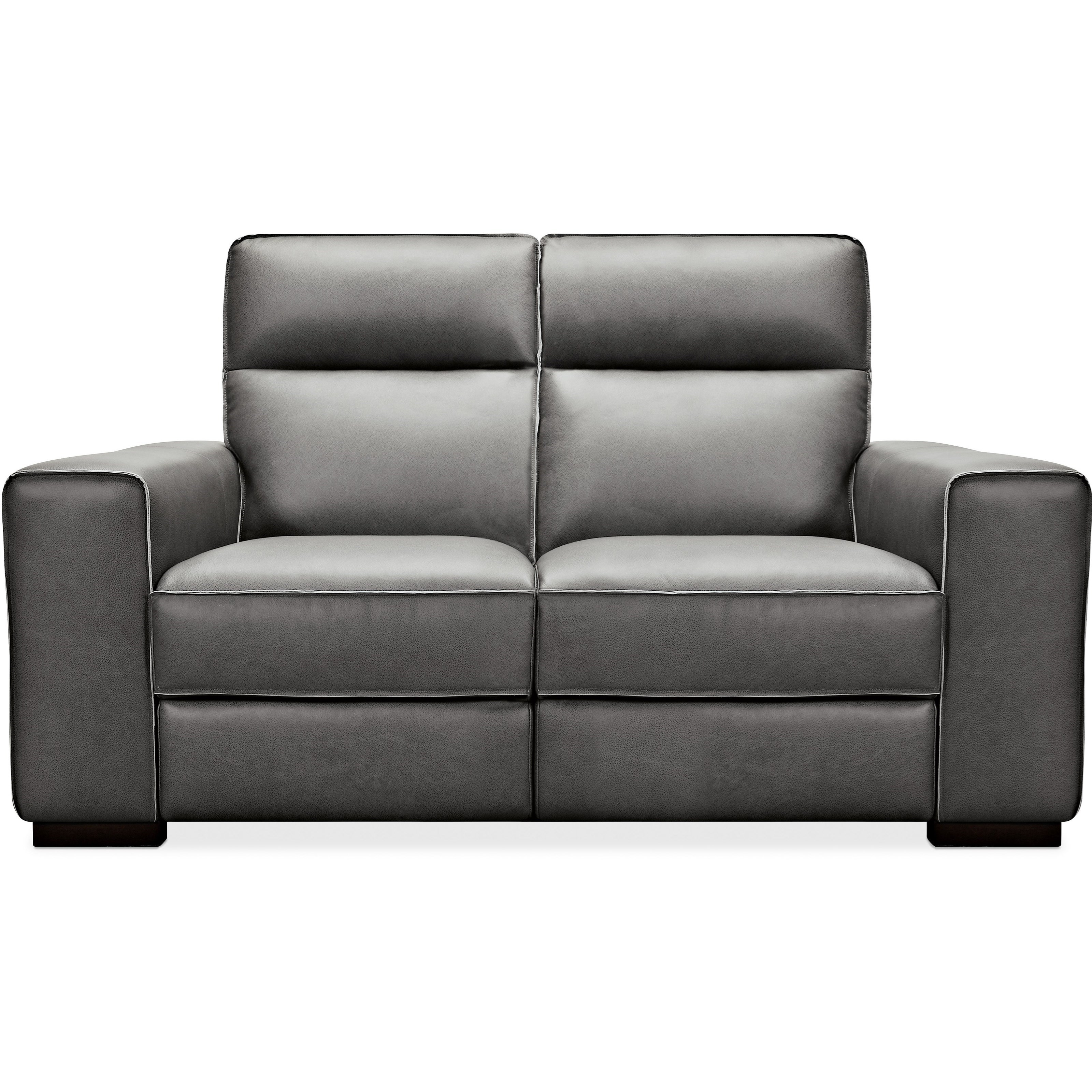 Braeburn Leather Power Reclining Loveseat by Hooker Furniture at Miller Waldrop Furniture and Decor