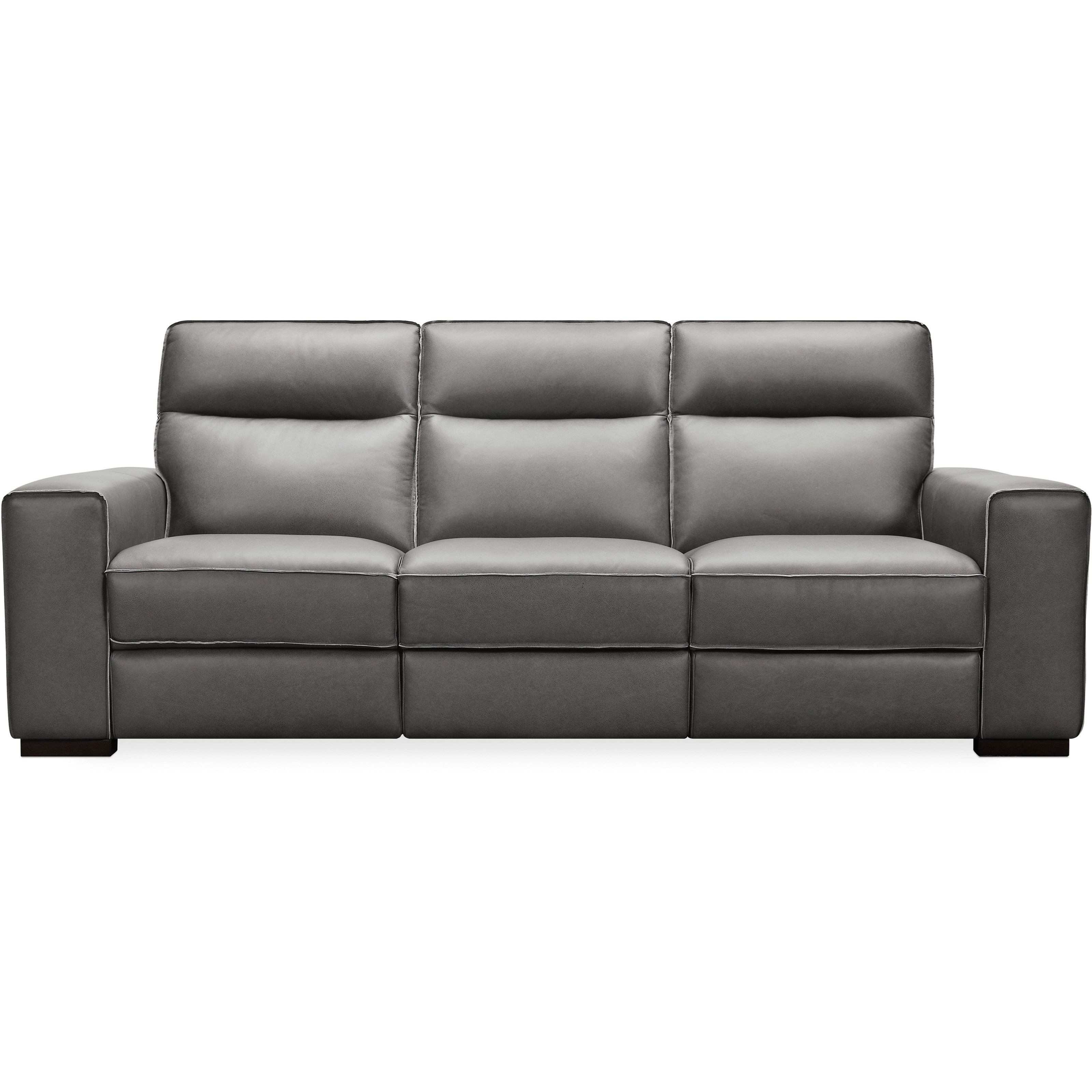 Braeburn Leather Power Reclining Sofa by Hooker Furniture at Dunk & Bright Furniture