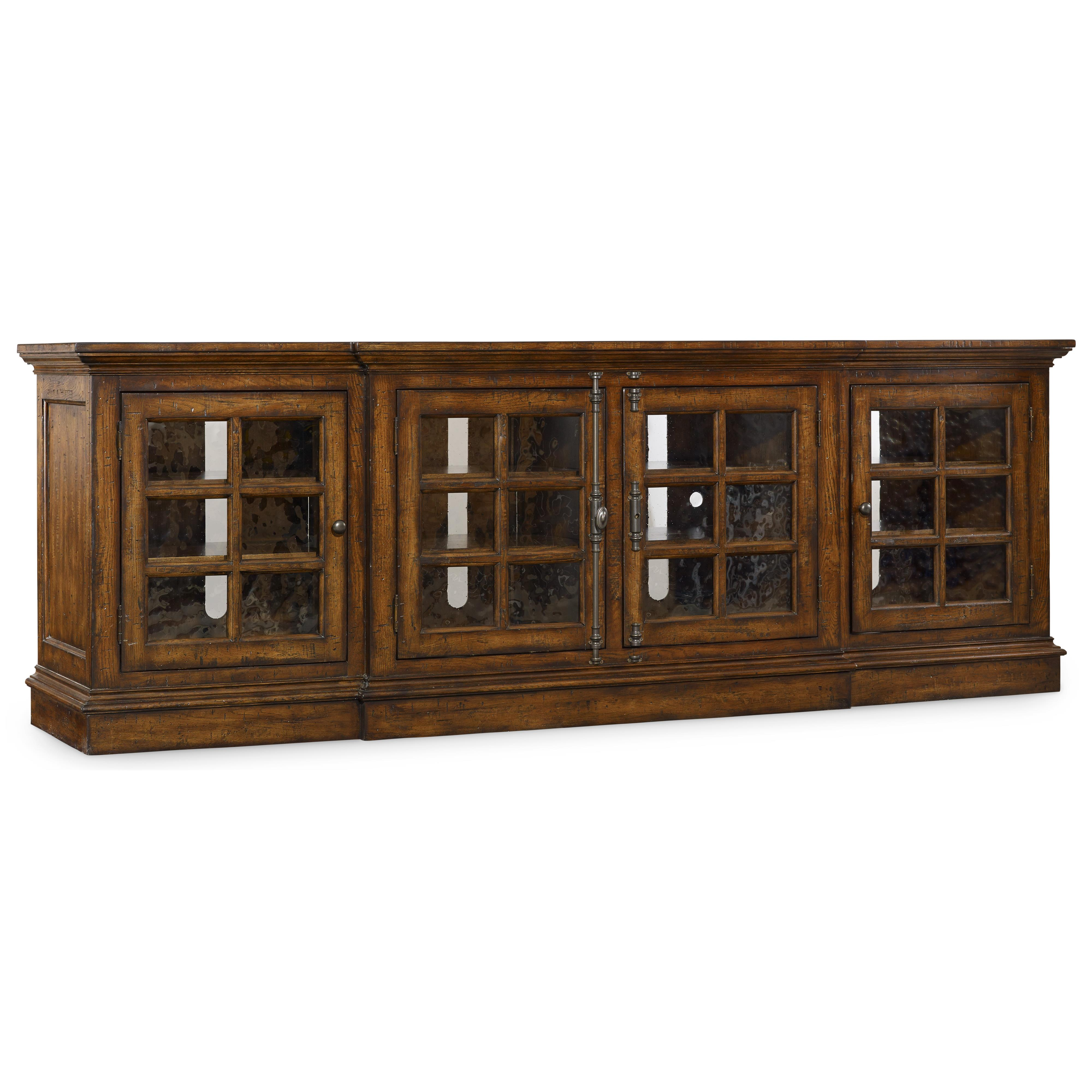 Brantley Entertainment Console by Hooker Furniture at Baer's Furniture