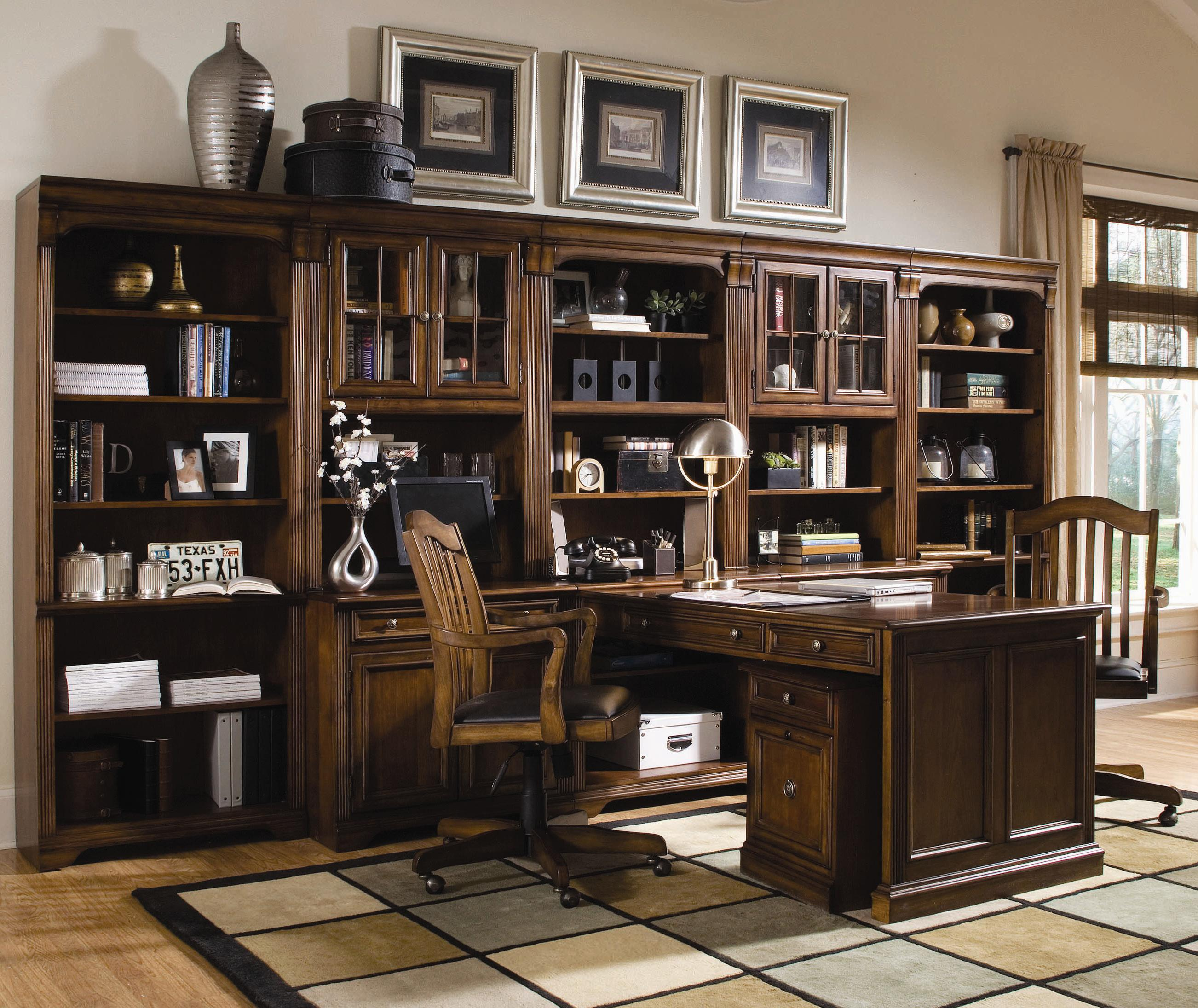 Brookhaven Office Wall Unit by Hooker Furniture at Baer's Furniture