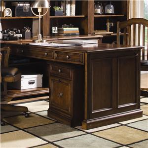 Three Drawer Peninsula Desk