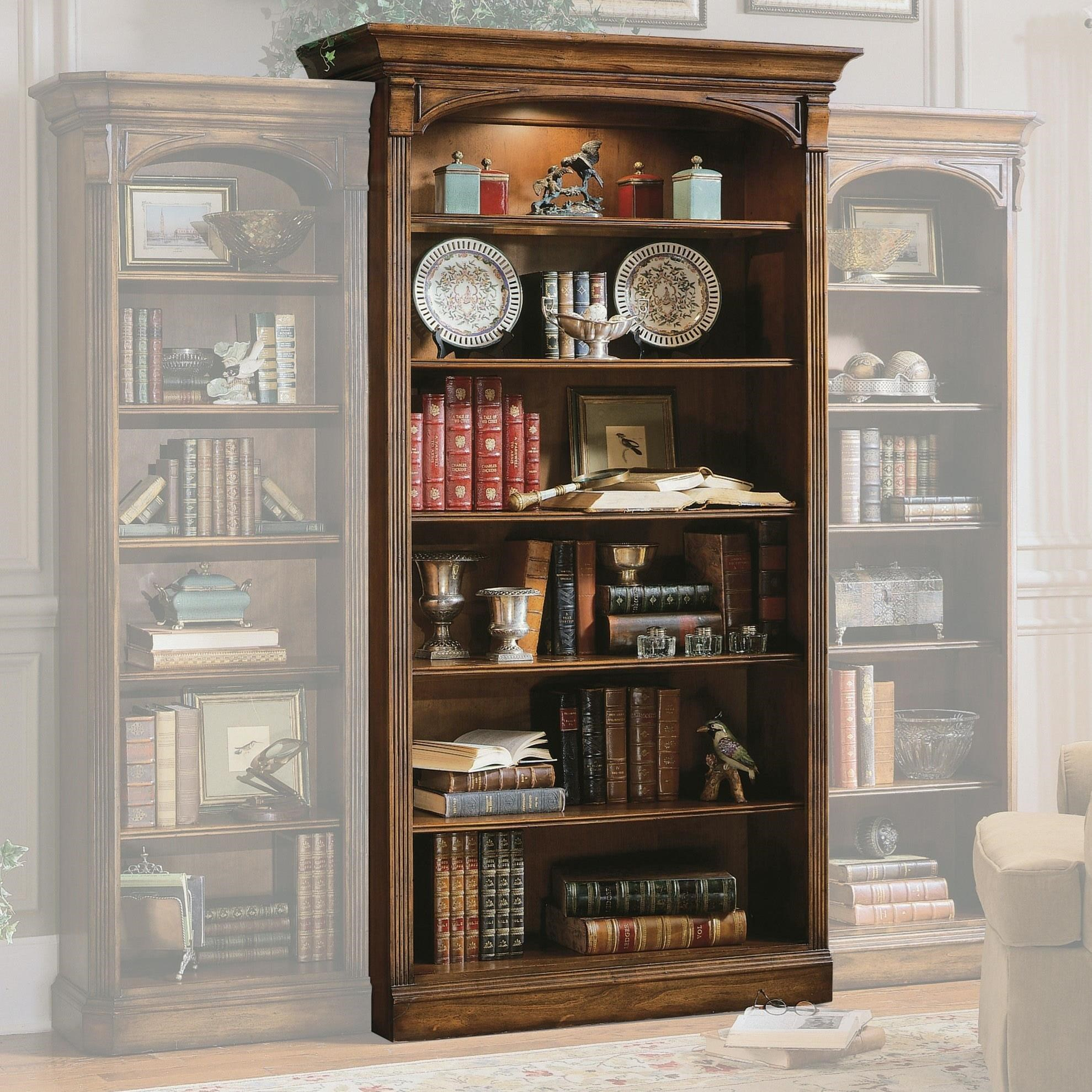Brookhaven Bookcase by Hooker Furniture at Miller Waldrop Furniture and Decor