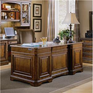Hooker Furniture Brookhaven Double Pedestal Desk