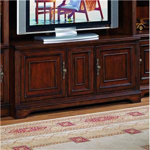 TV Console with Three Interchangeable Doors