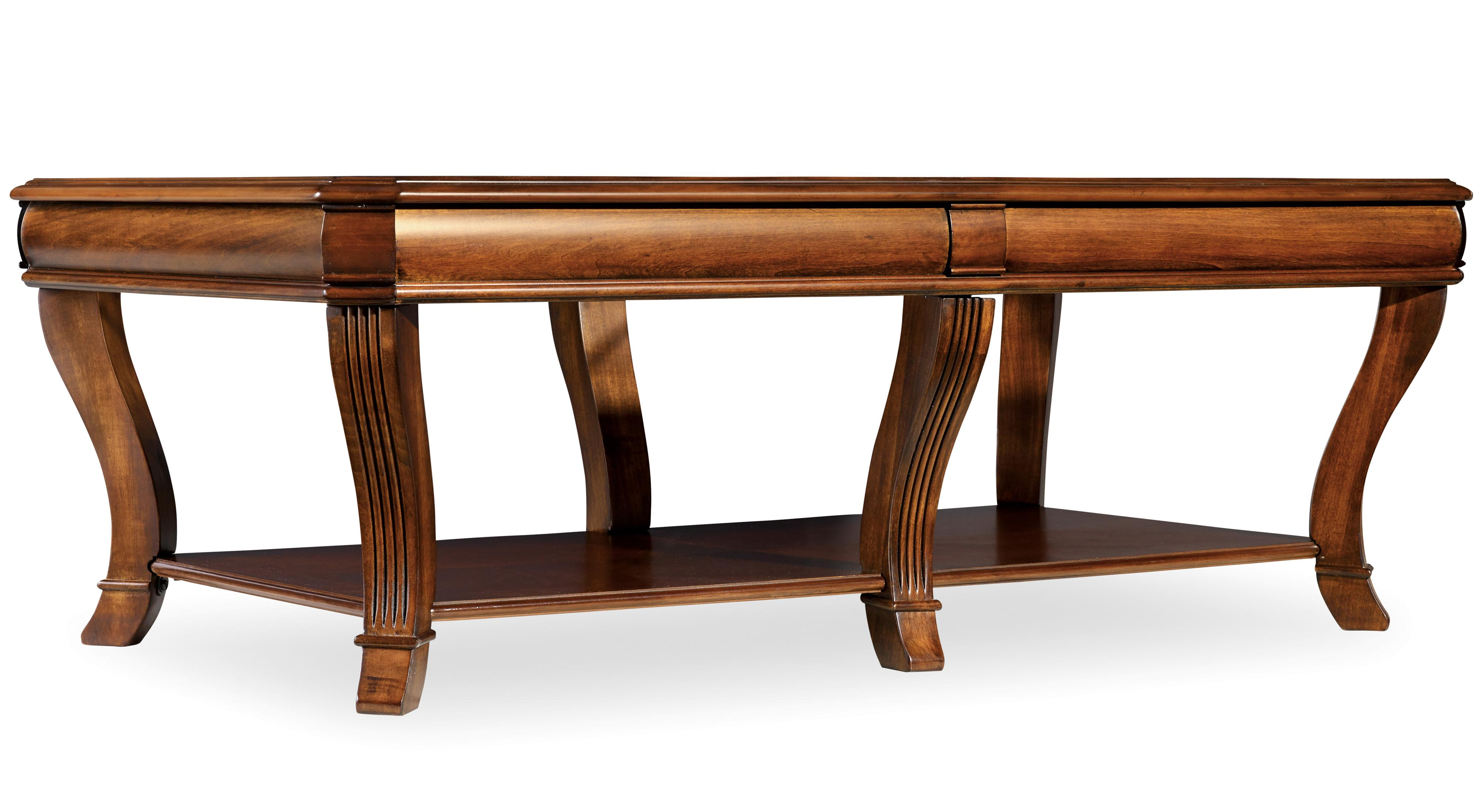 Brookhaven Rectangular Cocktail Table by Hooker Furniture at Miller Waldrop Furniture and Decor
