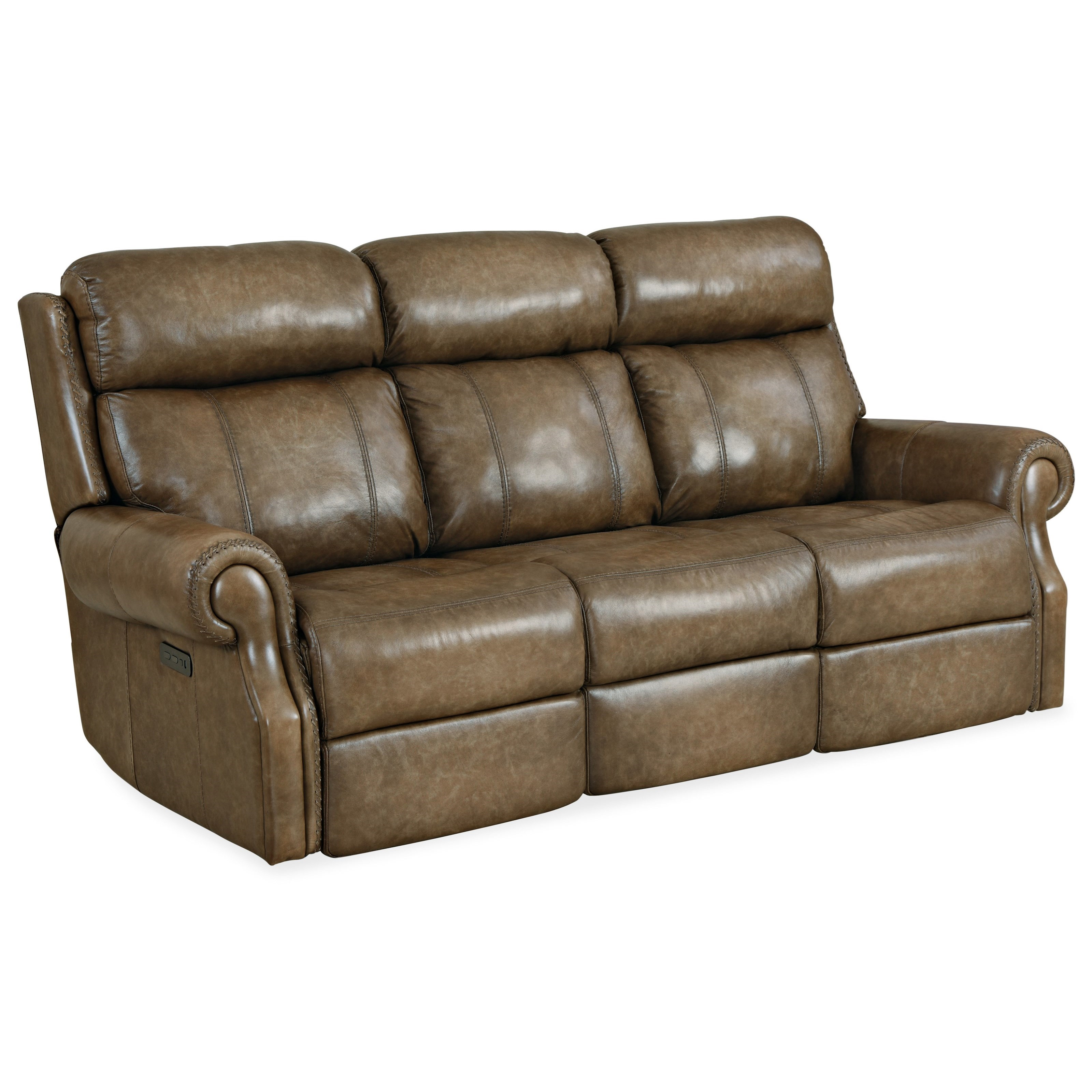 Brooks Power Sofa w/ Power Headrest by Hooker Furniture at Miller Waldrop Furniture and Decor